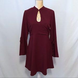 ECI New York NWOT Burgundy Dress Women 10